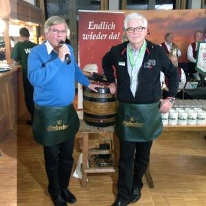 Hartmut Möllring (l.) und Walter Schmidt. Foto: Einbecker Brauhaus AG