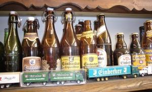 Bierflaschen im Bürgerhaus Kreiensen.