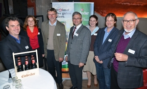 Dr. Uwe Ferber (Moderator); Diana Joneitis (ADF), Gerald Strohmeier (Stadt Einbeck); Ulrich Meiser (Einbecker Brauhaus AG); Linda Cassel (Einbeck Marketing GmbH), Jürgen Höper (Stadt Einbeck); Prof. Manfred Gerner (ADF).