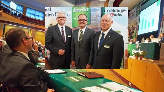 Aufmerksamer Beobachter: Martin Deutsch (links) wird ab Oktober neuer Vorstand der Einbecker sein, Walter Schmidt und Lothar Gauß (kl. Foto) begrüßten ihn.