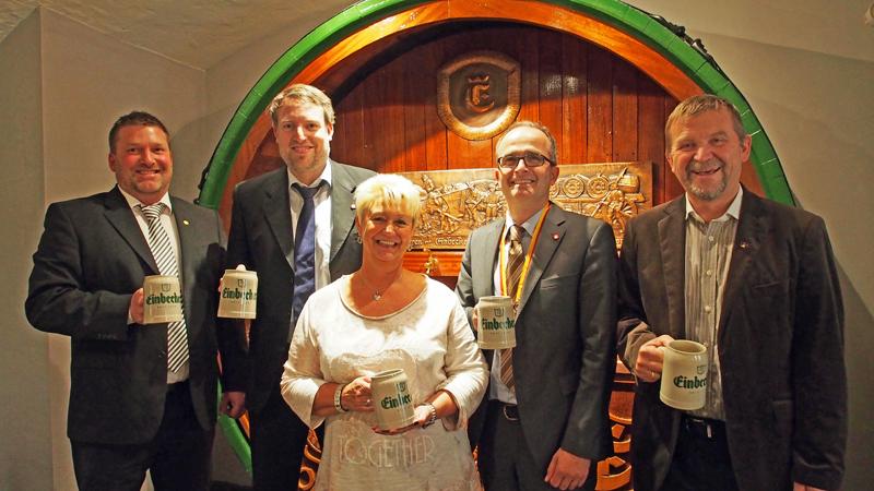 Gaben heute den Bierordenträger 2016 bekannt (v.l.): Andreas Bode, Ingo Schrader, Kirsten Gärtig, Martin Deutsch und Albert Eggers.