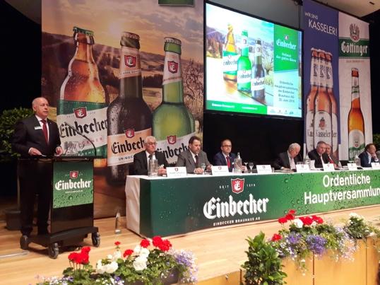 Über das Geschäftsjahr 2015 berichteten Vorstand und Aufsichtsrat der Einbecker Brauhaus AG heute rund 240 anwesenden Aktionären.