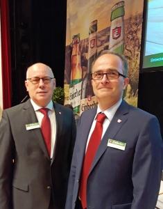 """""""Wir verstehen uns, sind ein gutes Team"""", sagt Lothar Gauß (links) über seinen neuen Vorstandskollegen Martin Deutsch."""