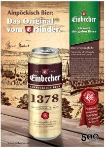 Ab August in der Dose: Ainpöckisch Bier.