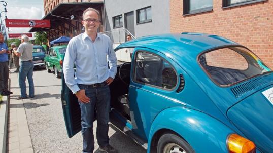 Vorstand Martin Deutsch vor dem Start.