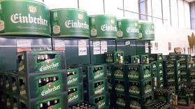 Einbecker Biere im Getränkemarkt.